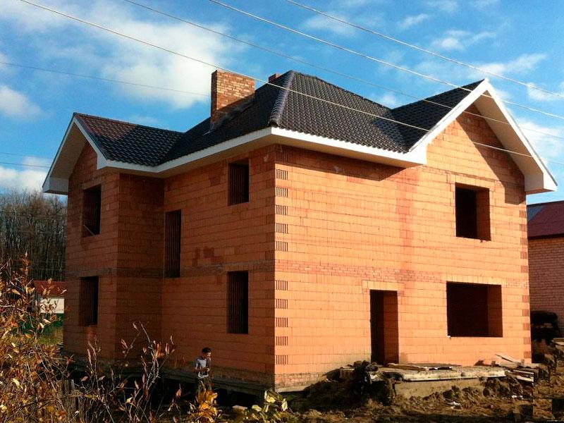 строительство дома из керамических блоков фото жили